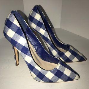 Shoe Dazzle Gingham Heels